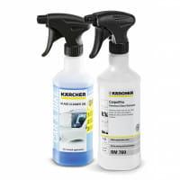 Гель для очистки стекол Karcher RM 724G 3в1 0.5 л и Пятновыводитель универсальный Karcher CarpetPro RM 769 0.5 л