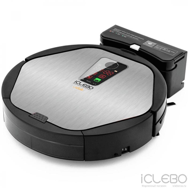 Робот-пылесос iClebo Arte Silver + Гель для очистки стекол и пятновыводитель Karcher в подарок!